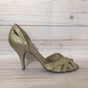 ‼️CLEARANCE‼️ Gold Glitter Anne Klein Heels